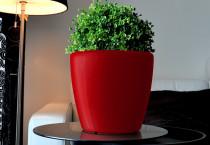 Samozavlažovací květináč GreenSun AQUAS průměr 22 cm, výška 21 cm, červený