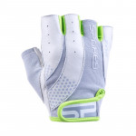 Spokey ZOE II Dámské - Fitness rukavice bílo-limetkové vel. L