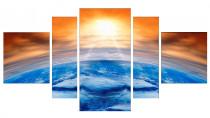 Obrazy Západ slunce nad horizontem 3105 - VÝPRODEJ