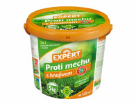 Přípravek EXPERT na trávník proti mechu s hnojivem 5kg