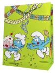 Dárková taška ŠMOULA - zelená 32,5 cm, DITIPO - VÝPRODEJ