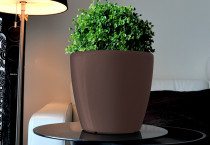 Samozavlažovací květináč GreenSun AQUAS průměr 35 cm, výška 34 cm, hnědý