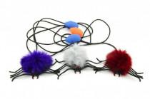 Pavouk skákající plyš/plast 7cm - mix variant či barev