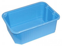 košík stohovatelný 30x21x12cm plný plastový (velký) - mix barev