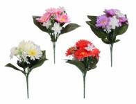 Květina GERBERA S LILIÍ KVĚT X7 4+3květy mix 23cm - VÝPRODEJ