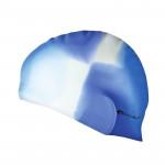 Spokey Abstract plavecká čepice silikonová modro - bílá