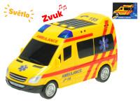 Auto ambulance CZ 18 cm na setrvačník na baterie se světlem a zvukem - VÝPRODEJ