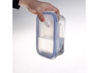 dóza obdélníková 0,64l 17,7x13,4x6,4cm skl.+PP víčko - VÝPRODEJ