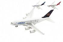 Letadlo kov/plast 22cm na volný chod 3 druhy