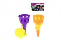 Hra Catch ball s míčkem plast 16cm - mix barev