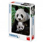 Puzzle 1000 dílků: Pandí rodina