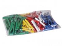 kolíčky na prádlo plastové (100ks) - mix barev - VÝPRODEJ