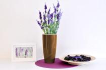 Vypěstuj si levanduli, samozavlažovací květináč hnědý 12 / 23 cm, Domestico