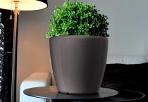 Samozavlažovací květináč GreenSun AQUAS průměr 28 cm, výška 26 cm, tmavě stříbrný