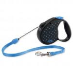 Vodítko FLEXI Color Dots M lanko 5m/20kg modrá