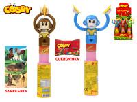 Cosby Monkey show 23 cm s cukrovinkou a samolepkou - 12 ks - mix barev