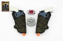 Pistole/kolt s pouzdrem 2ks kovbojská sada plast 16cm 2ks s doplňky