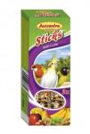 Avicentra tyč malý a stř. papoušek - ovoce a ořech 2 ks