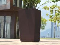 Samozavlažovací květináč GreenSun ICES 22x22 cm, výška 43 cm, hnědý