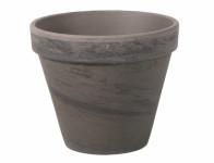 Květník KLASIK keramický čedičový melír 12/13x12cm