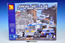Stavebnice Dromader Policie Auto+Vrtulník+Stanice 23001