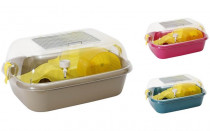 Klec hlod. křeček plast Candy mix barev 44x34x20cm - VÝPRODEJ