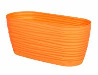 Truhlík SAHARA PRIMULE s podmiskou plastový oranžový 27cm - VÝPRODEJ