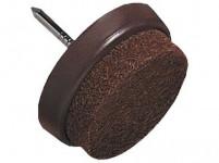 ochrana podlah filcová s hřebíčkem do nábytku 30mm HN (8ks) blistr - VÝPRODEJ