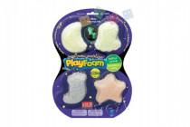 PlayFoam Modelína/Plastelína kuličková svítící ve tmě 4 barvy na kartě