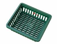Košík na cibuloviny tmavě zelený 29x26cm 3ks - VÝPRODEJ