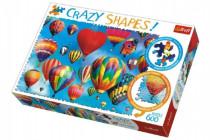 Puzzle Barevné balóny 600 dílků Crazy Shapes 68x48cm