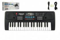 Piánko/Klávesy 37 kláves, napájení na USB + přehrávač MP3 + mikrofon plast 40cm