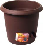 Plastia květináč samozavlažovací Siesta - čokoládový 30 cm - VÝPRODEJ