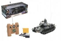Tank RC plast 33cm T-34/85 27MHz na baterie+dobíjecí pack se zvukem a světlem