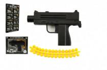 Pistole kov/plast 11cm na kuličky mix druhů v krabičce 15x12cm - VÝPRODEJ
