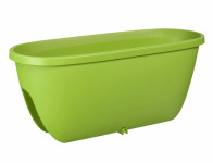 Truhlík BALCONIA na zábradlí plastový zelený 60cm - VÝPRODEJ