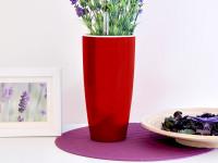Samozavlažovací květináč GreenSun LIQUIDS průměr 12 cm, výška 23 cm, červený