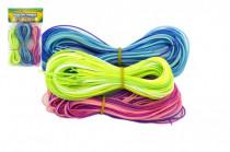 Zaplétací provázky bužírky 80cm 60ks plast - mix barev