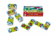 Domino Moje první zvířátka dřevo společenská hra MPZ
