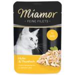Kapsička MIAMOR Feine Filets kuře + tuňák v želé (100g) - VÝPRODEJ