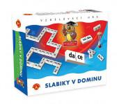 Slabiky v dominu společenská hra vzdělávací v krabici 24x20cm