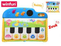 Pianko dětské 41 cm 5 kláves na baterie se světlem a zvukem