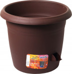 Plastia květináč samozavlažovací Siesta - čokoládový 25 cm