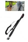 Vodítko elastické s ramenem pro jízdu na kole se psem
