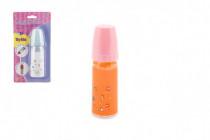 Kojenecká lahvička pro panenky plast 15cm - mix variant či barev