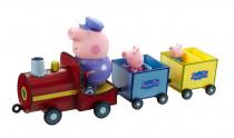 PEPPA PIG - vláček + 3 figurky - VÝPRODEJ