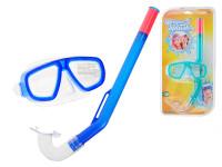 Potápěčská sada brýle polykarbonátová skla + šnorchl - mix barev