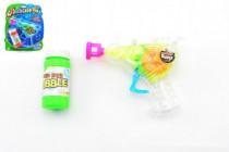 Pistole bublifuk plast 13cm na setrvačník - mix barev