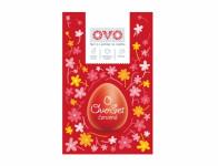 Set na vajíčka OVO SET barva, obtisky a košilky červená