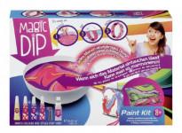 Kreativní sada Magic Dip malování 4 barvy + příslušenství v krabici 25x18cm